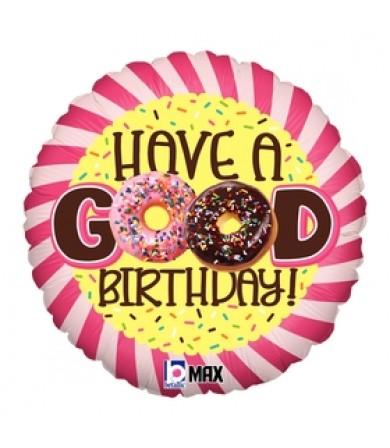 "36887P- Donut Birthday (18"")"